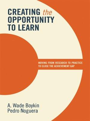 cover image of Creating the Opportunity to Learn