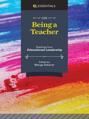 cover image of On Being a Teacher