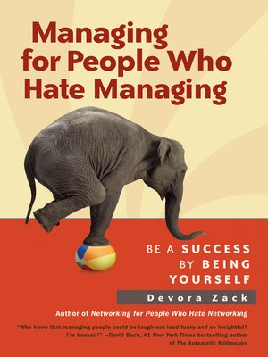 cover image of Managing for People Who Hate Managing