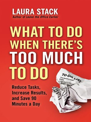 cover image of What To Do When There's Too Much To Do