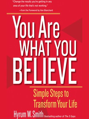 cover image of You Are What You Believe