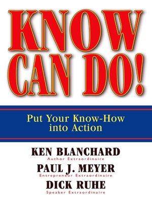 cover image of Know Can Do!