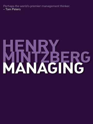 cover image of Managing