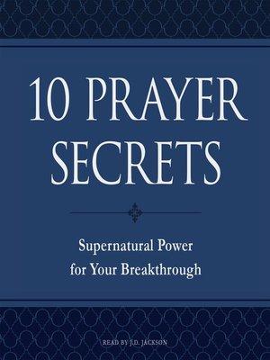 cover image of 10 Prayer Secrets
