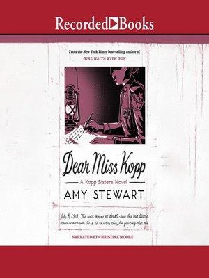 cover image of Dear Miss Kopp