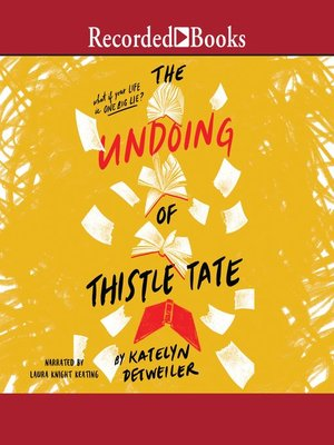 cover image of The Undoing of Thistle Tate