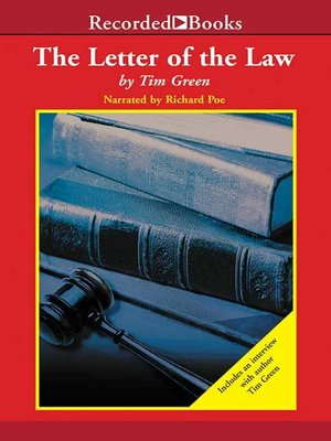 cover image of The Letter of the Law