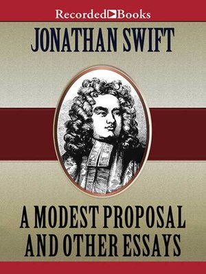 cover image of A Modest Proposal and Other Writings
