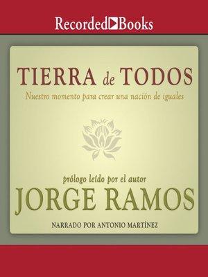 cover image of Tierra de todos
