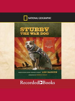 cover image of Stubby the War Dog