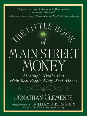 cover image of The Little Book of Main Street Money