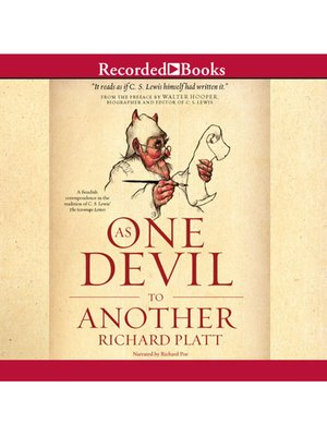 cover image of As One Devil to Another