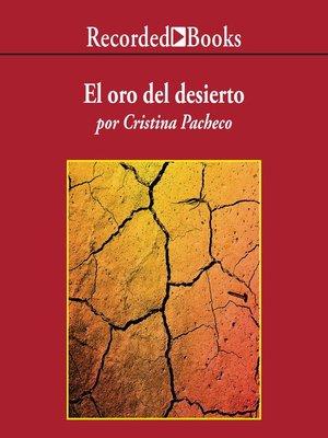 cover image of El oro del desierto