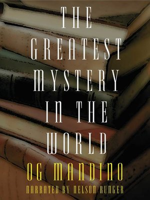 cover image of Greatest Mystery in the World
