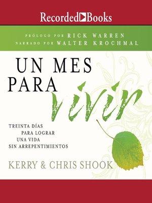 cover image of Un mes para vivir