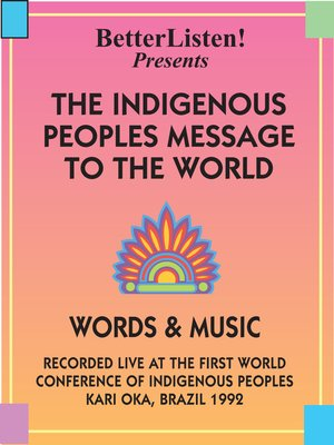 cover image of The Indigenous People's Message to the World