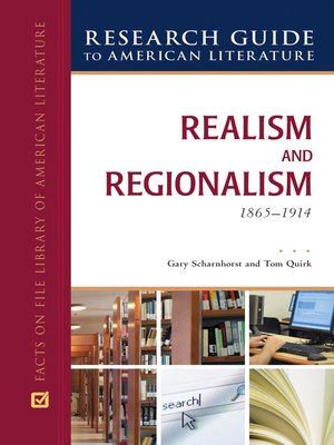 cover image of Realism and Regionalism, 1865-1914