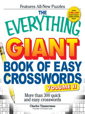 cover image of Giant Book of Easy Crosswords