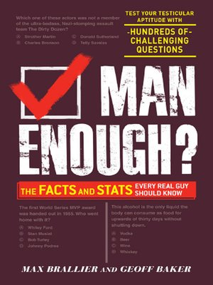 cover image of Man Enough?