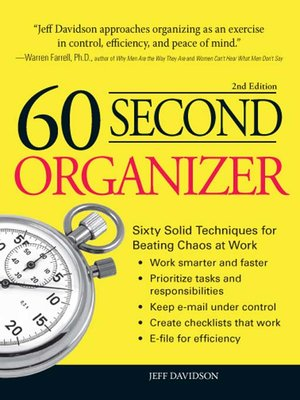 cover image of 60 Second Organizer