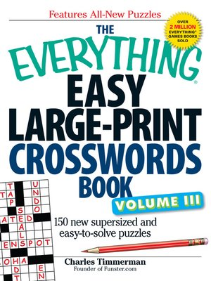 cover image of Easy LargePrint Crosswords Book