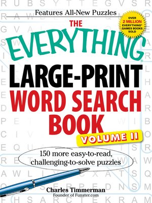 cover image of LargePrint Word Search Book