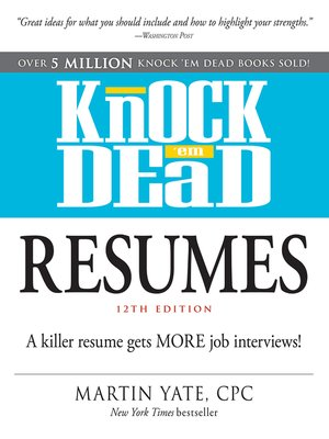cover image of Knock 'em Dead Resumes