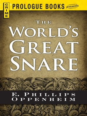 cover image of The World's Great Snare