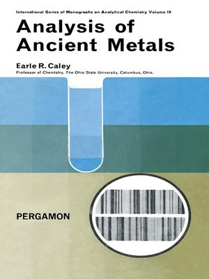 cover image of Analysis of Ancient Metals