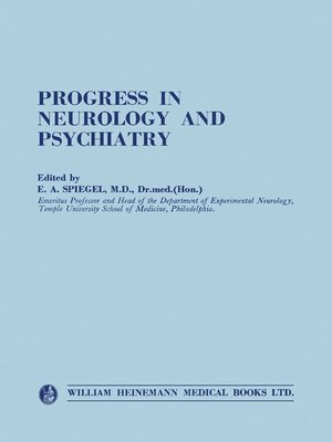 cover image of Progress in Neurology and Psychiatry