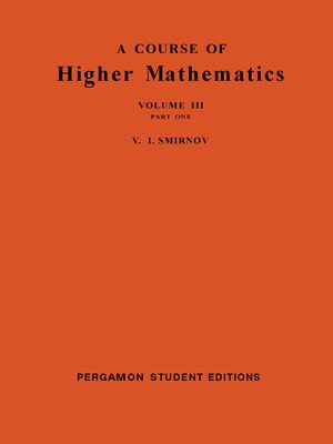 cover image of A Course of Higher Mathematics