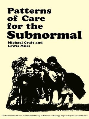 cover image of Patterns of Care for the Subnormal