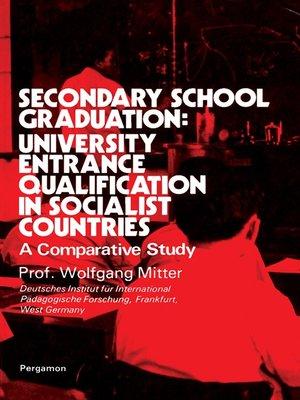 cover image of Secondary School Graduation