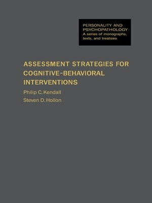 cover image of Assessment Strategies for Cognitive–Behavioral Interventions