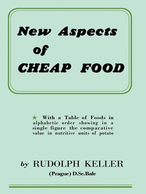 cover image of New Aspects of Cheap Food