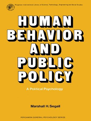 cover image of Human Behavior and Public Policy