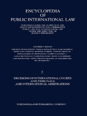 cover image of Decisions of International Courts and Tribunals and International Arbitrations