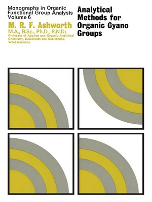 cover image of Analytical Methods for Organic Cyano Groups