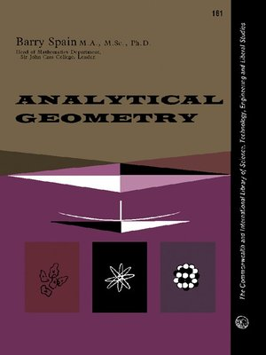 cover image of Analytical Geometry