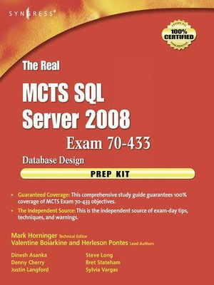cover image of The Real MCTS SQL Server 2008 Exam 70-433 Prep Kit