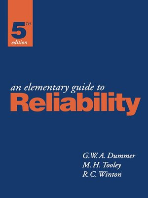 cover image of An Elementary Guide to Reliability