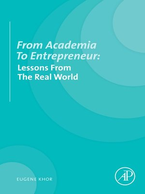 cover image of From Academia to Entrepreneur