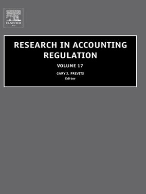 cover image of Research in Accounting Regulation, Volume 17