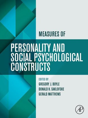 cover image of Measures of Personality and Social Psychological Constructs