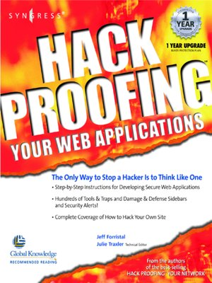 cover image of Hack Proofing Your Web Applications