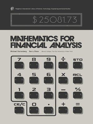 cover image of Mathematics for Financial Analysis
