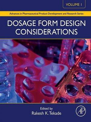 cover image of Dosage Form Design Considerations, Volume 1
