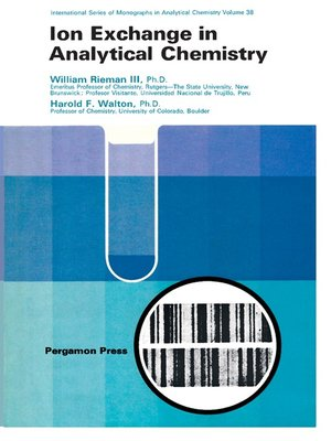 cover image of Ion Exchange in Analytical Chemistry