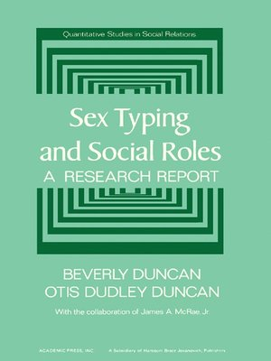 cover image of Sex Typing and Social Roles