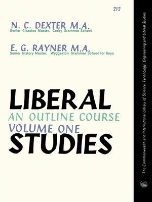 cover image of Liberal Studies